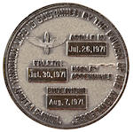 ROBBINS MEDALLION CARRIED ON APOLLO 15.