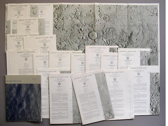 RANGER SPACECRAFT LUNAR IMPACT CHARTS.