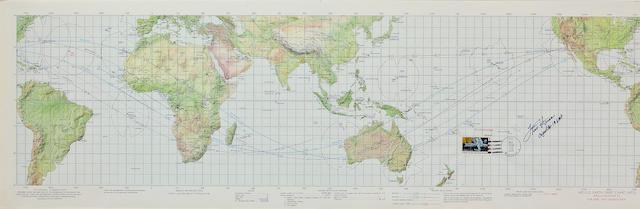 APOLLO 13 EARTH ORBITAL CHART.