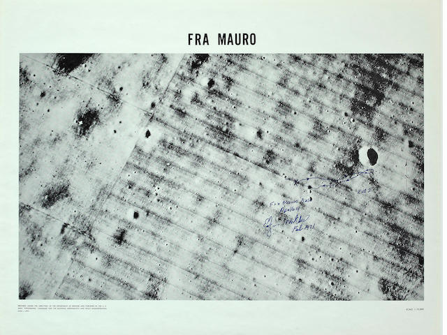 FRA MAURO BASE WITH MANUSCRIPT CHARTING BY MITCHELL.