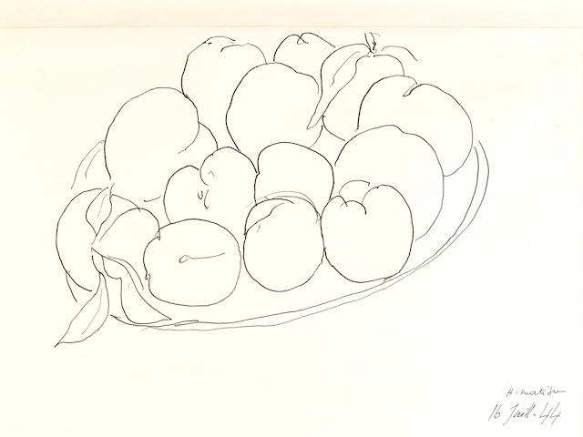 (n/a) Henri Matisse (French, 1869-1954) Les pommes, 1944 12 3/8 x 15 15/16in (31.5 x 40.5cm)