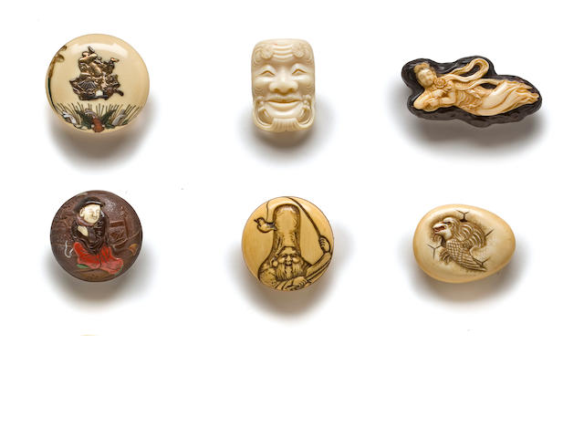 A GROUP OF SIX NETSUKE 19th century