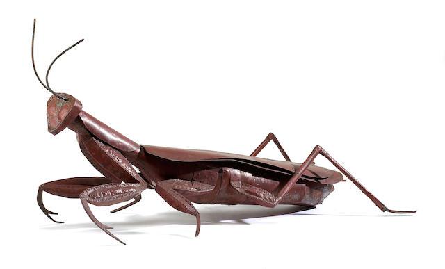 Ken Kalman (American, born 1955) Preying Mantis, 2008 27 1/2 x 53 1/2 x 22in