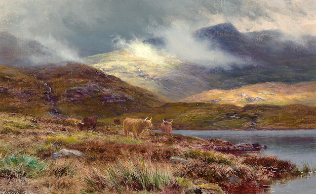 (n/a) Louis Bosworth Hurt (British, 1856-1929) Hills at Lochgoilhead 7 x 11 1/2in (17.7 x 29.2cm)