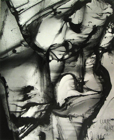 Brett Weston (American, 1911-1993); Abstraction with paint;