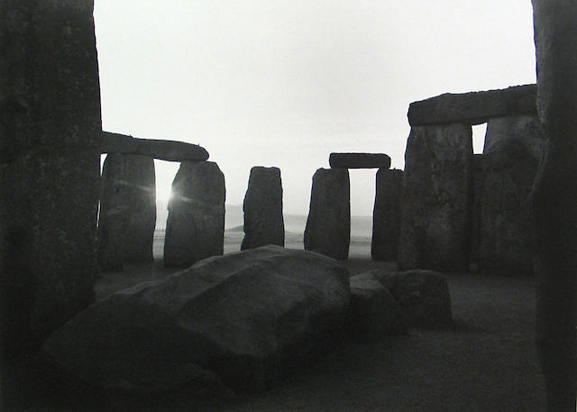 Paul Caponigro (American, born 1932); View of Fall Trilithon, Looking East, Stonehenge, Wiltshire, England;