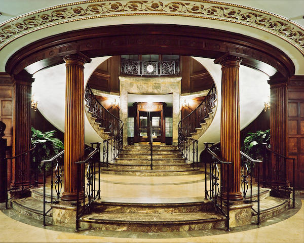(n/a) Jim Dow (American, born 1942); Main Foyer, Downstairs, Union League Club, New York;