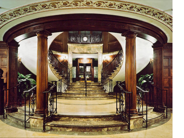 Jim Dow (American, born 1942); Main Foyer, Downstairs, Union League Club, New York, NY;
