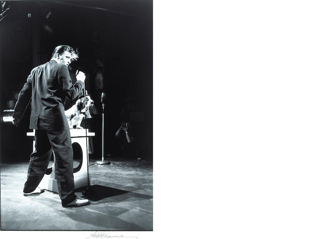 Alfred Wertheimer Elvis and the Hound Dog, 1963/printed later signed;