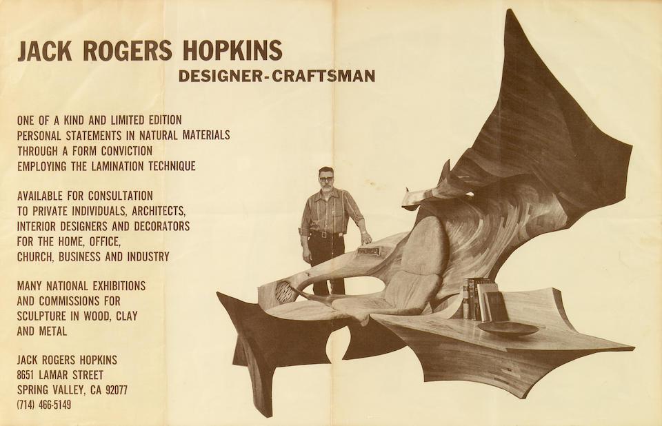 Jack Rogers Hopkins (American, 1921-2006) Sculptured Chair, 1971