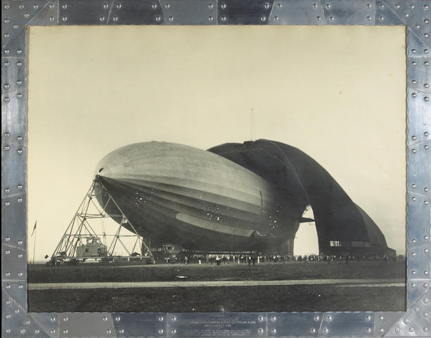 Margaret Bourke-Whire USS Airship Akron 1931 gelatin silver print signed;