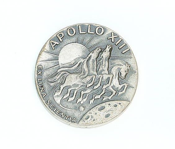 ROBBINS MEDALLION CARRIED ON APOLLO 13