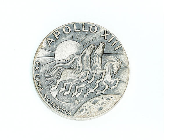 ROBBINS MEDALLION CARRIED ON APOLLO 13.