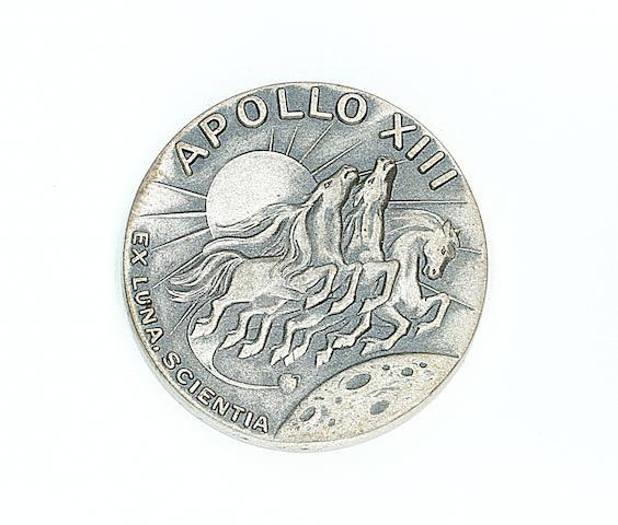 ROBBINS MEDALLION CARRIED ON APOLLO 13.