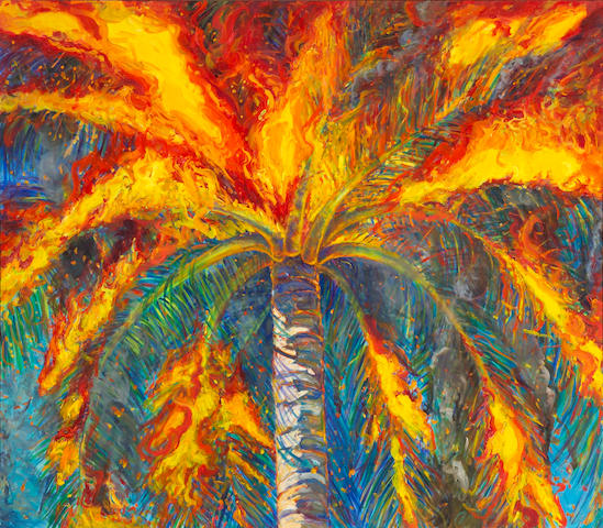 Michael Knowlton (American, 20th century) Large Lowe Palm, 1996, oil on canvas 55 x 63in