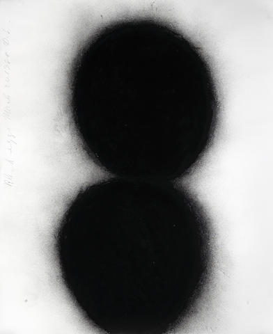 Donald Sultan (American, born 1951), Black Eggs, March 20, 1988, 1988 charcoal on paper 60 x 48 inches