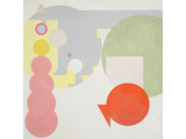 (n/a) Hassel Smith (American, 1915-2007) Untitled, 1983 68 x 68in