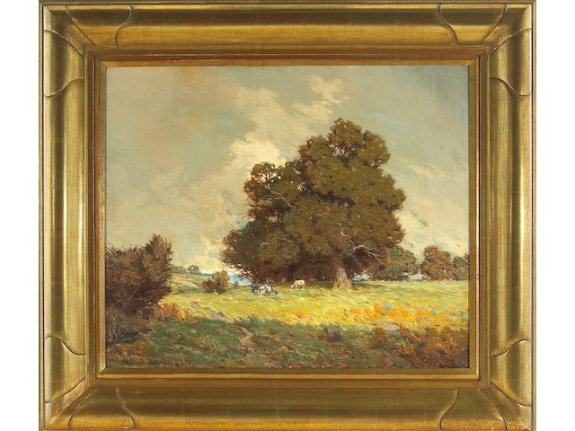 Granville Redmond (American, 1871-1935), Cattle grazing, 1909  overall: 28 1/4 x 32 1/4in