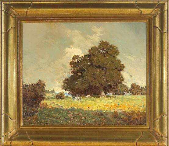 Granville Redmond (American, 1871-1935), Cattle grazing, 1909  overall: 28 1/4 x 32 1/4in