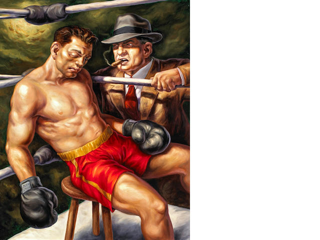 Owen Smith (American, 20th century) Fighters 30 x 24in