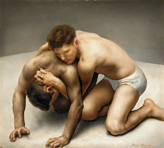 Douglass Ewell Parshall (American, 1899-1990) Wrestlers, c. 1930 36 x 40in