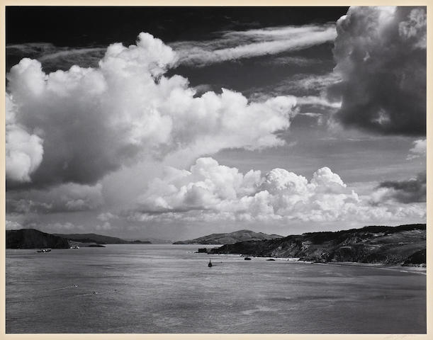 Ansel Adams (American, 1902-1984); Ansel Adams, Golden Gate before the bridge, 1932/1940-53;