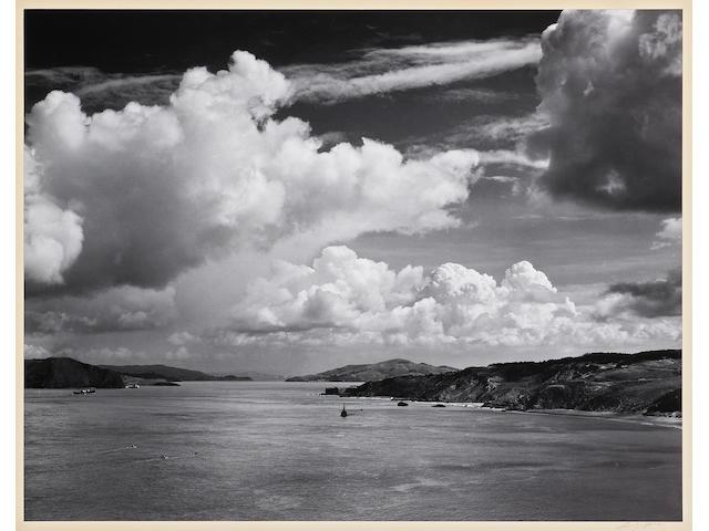 Ansel Adams (American, 1902-1984); The Golden Gate before the Bridge, San Francisco, California;