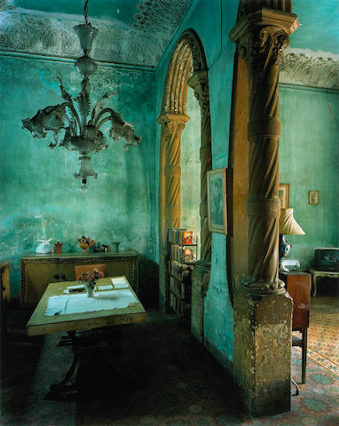 (n/a) Michael Eastman (American, born 1947); Green Dining Room, from Cuba series;