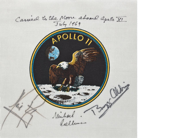 MICHAEL COLLINS' FLOWN APOLLO 11 EMBLEM.
