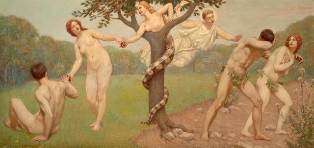(n/a) Kenyon C. Cox (American, 1856-1919) The Fall 18 3/4 x 38 1/4in
