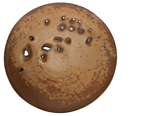 Peter Voulkos (American, 1924-2002) Plate, 1973 diameter 19 3/4in (50.2cm)