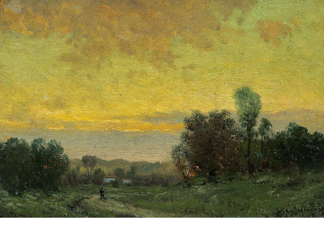 Julian Onderdonk (1882-1922),   Sunset Landscape 6 x 9 1/4in