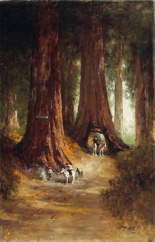 Thomas Hill (American, 1829-1908) Big trees, 1903 46 1/4 x 30in