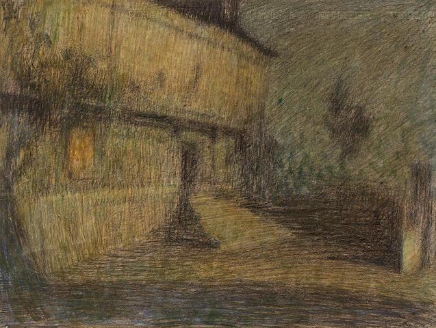 (n/a) Henri Le Sidaner (French, 1862-1939) Clair de Lune, Saint-Paul 14 x 18in (36 x 46cm)