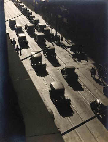 Johan Hagemeyer (Dutch/American, 1884-1962); Traffic on Post Street, from Studio;