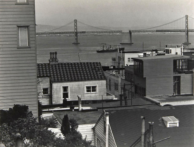 Johan Hagemeyer (Dutch/American, 1884-1962); View of San Francisco and Oakland Bay Bridge;