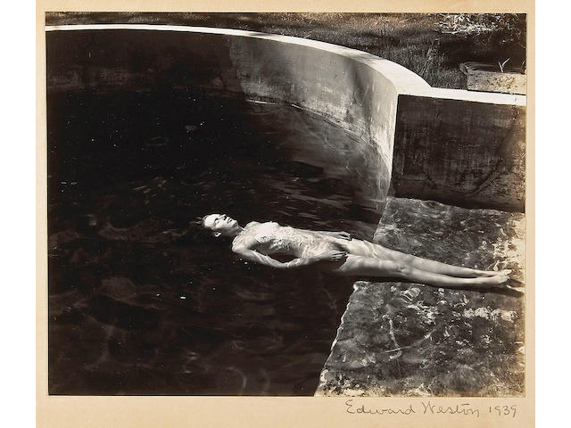 Edward Weston (American, 1886-1958); Nude Floating in Pool;