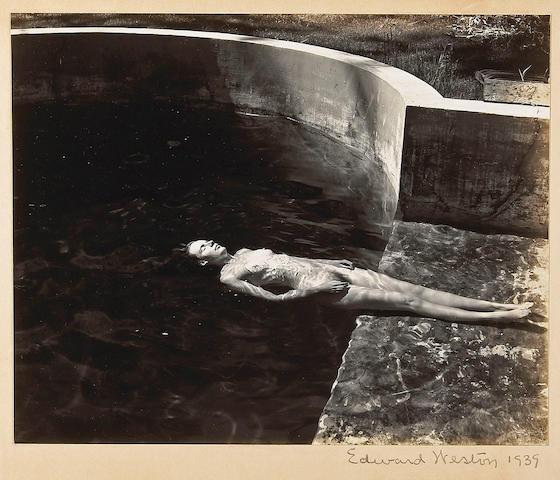 Edward Weston (American, 1886-1958); Nude Floating in Pool;