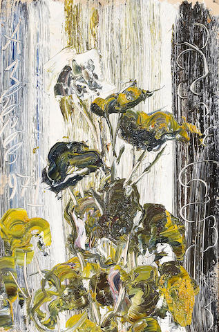 (n/a) Anatoly Zverev (Russian, 1931-1986) Untitled (Flowers), 1971 19 1/2 x 13in (49.5 x 33cm)