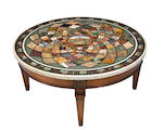 A micromosaic and specimen inlaid table