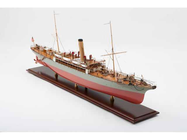 "A shipbuilders' model of the cable layer ship C/S ""Restorer"" for the Commercial Cable Co.,British, circa 1902"