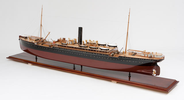 "A fine shipbuilders' model of the passenger ship S.S. ""Sicilia"" for the P & O Line,Scottish, circa 1900"