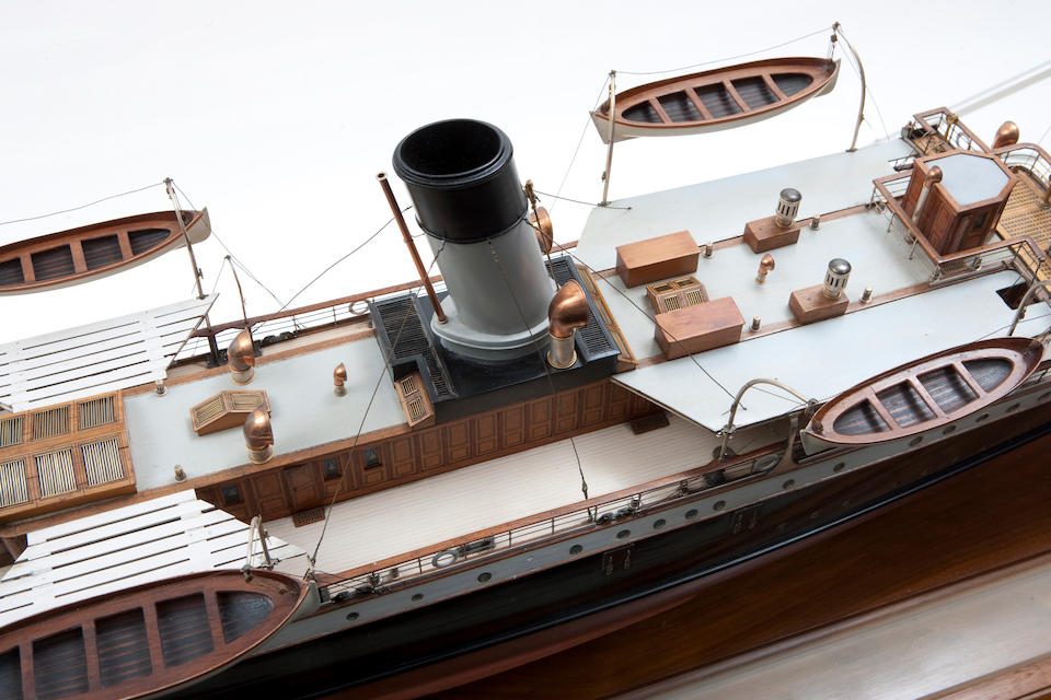 "A shipbuilders' model of the twin-screw cross Channel steamer S.S. ""Seaford"" for Denny Brothers,Scottish, circa 1894"