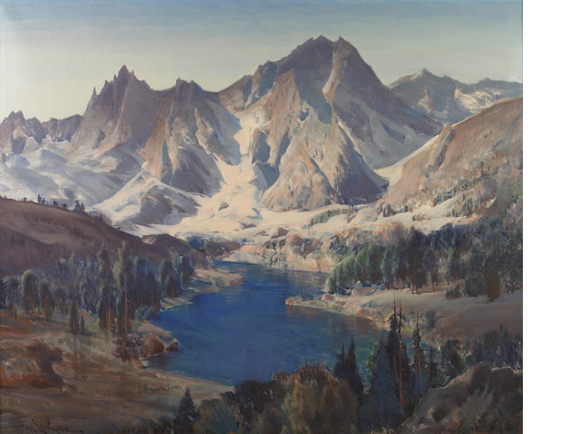 Paul Lauritz (Norwegian/American, 1889-1975) High Sierra lake scene 30 x 36in