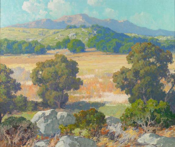 (n/a) Maurice Braun (American, 1877-1941) Hubbard's grove 25 x 30in