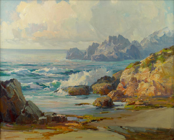 (n/a) Jack Wilkinson Smith (American, 1873-1949) California coast 24 x 30in