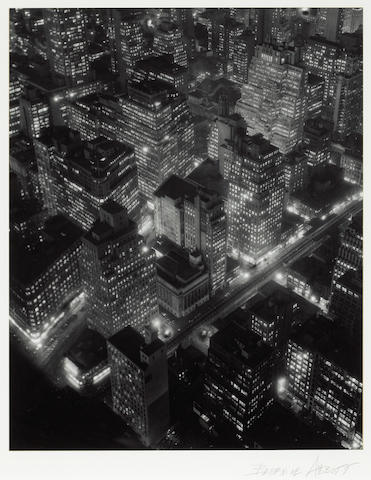 (n/a) Berenice Abbott (American, 1898-1991); New York at Night;