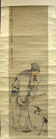 Two Chinese hanging scrolls