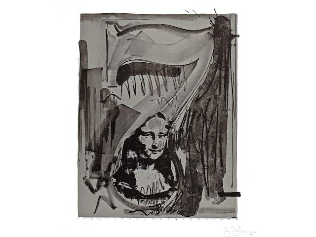 Jasper Johns (American, born 1930); Figure 7, from The Black Numeral Series;