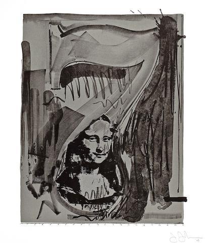 Jasper Johns (American, born 1930); Figure 7, from The Black Numeral Series;